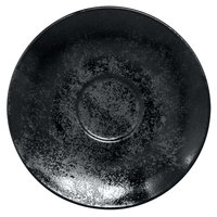 RAK Porcelain KRCLSA02 Karbon 6 11/16 inch Black Porcelain Saucer - 12/Case