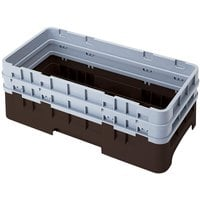 Cambro HBR578167 Brown Camrack Half Size Open Base Rack with 2 Extenders