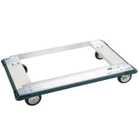Metro D55PN Aluminum Truck Dolly with Wraparound Bumper and 8 inch Polyurethane Casters 24 inch x 48 inch
