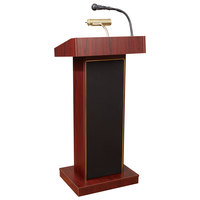 Oklahoma Sound 800X-MY Mahogany Finish Orator Lectern with Sound