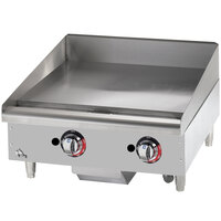 Star Max 624TSPF 24 inch Thermostatic Control Gas Countertop Griddle with Safety Pilot - 56,600 BTU