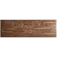 Lancaster Table & Seating 30 inch x 96 inch Rectangular Recycled Wood Butcher Block Table Top with Vintage Finish