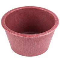 HS Inc. HS1014 2.5 oz. Raspberry Polyethylene Ramekin - 48/Case