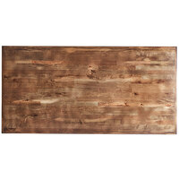 Lancaster Table & Seating 30 inch x 60 inch Rectangular Recycled Wood Butcher Block Table Top with Vintage Finish