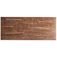 Lancaster Table & Seating 30 inch x 72 inch Rectangular Recycled Wood Butcher Block Table Top with Vintage Finish