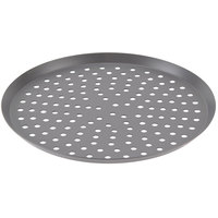 American Metalcraft CAR18PHC 18 inch Perforated Hard Coat Anodized Aluminum Cutter Pizza Pan