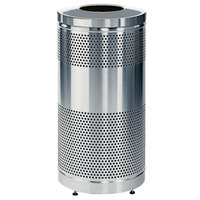 Rubbermaid FGS3SSTSSPL Stainless Steel Perforated Waste Receptacle 25 Gallon