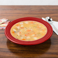 Homer Laughlin 451326 Fiesta Scarlet 13.25 oz. China Rim Soup Bowl - 12/Case