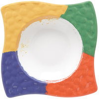 GET B-1612-CE Las Brisas 6 oz. Celebration 7 inch Square Bowl - 12/Pack