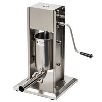 Manual 7 lb. Vertical Economy Sausage Stuffer with Stainless Steel Funnels