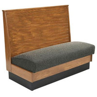 American Tables & Seating AS36-WBB-SS Bead Board Back Standard Seat Single Wood Booth - 36 inch High