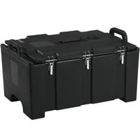 Cambro 100MPC110 Camcarrier® 100 Series Black Top Loading 8 inch Deep Insulated Food Pan Carrier
