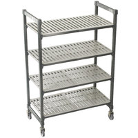 Cambro Camshelving Premium CPMS214875V4480 Mobile Shelving Unit with Standard Casters 21 inch x 48 inch x 75 inch - 4 Shelf
