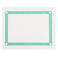Greek Key Green Placemat   - 1000/Case