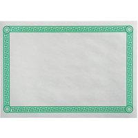10 inch x 14 inch Greek Key Green Placemat - 1000/Case