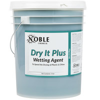 Noble Chemical 5 Gallon / 640 oz. Dry It Plus Rinse Aid for High Temperature Dish Machines