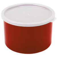 Cambro CP15416 Cranberry Round Crock with Lid 1.5 Quart - 6/Case