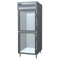 Delfield SSDTR1-GH 21.62 Cu. Ft. Glass Half Door Dual Temperature Reach In Refrigerator / Freezer - Specification Line