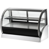 Vollrath 40855 36 inch Curved Glass Heated Countertop Display Cabinet
