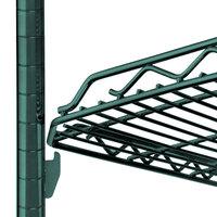 Metro HDM1436Q-DHG qwikSLOT Drop Mat Hunter Green Wire Shelf - 14 inch x 36 inch