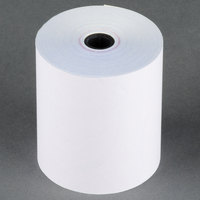 Choice 3 inch x 90' Carbonless 2-Ply Cash Register POS Paper Roll Tape - 50 / Case