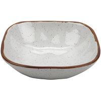GET SB-14-RM Rustic Mill 14 oz. Glazed Irregular Square Melamine Bowl - 24/Case