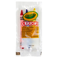 Crayola 520774 Classic 3-Count Assorted Crayons in Cello Wrap Pack - 360/Case