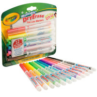 Crayola 985912 12-Count Washable Fine Line Dry Erase Marker