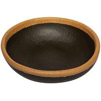 GET B-55-BR Pottery Market 4.5 oz. Glazed Brown Melamine Ramekin with Clay Trim - 48/Case