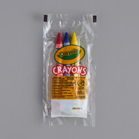 Crayola 520743 Classic 3-Count Assorted Washable Crayons in Cello Wrap Pack - 360/Case