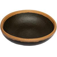 GET B-35-BR Pottery Market 2.5 oz. Glazed Brown Melamine Ramekin with Clay Trim   - 48/Case