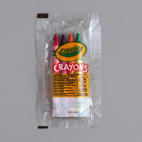 Crayola 520092 Classic 4-Count Assorted Crayons in Cello Wrap Pack - 360/Case