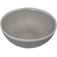GET B-305-DVG Pottery Market 1.5 Qt. Glazed Grey Melamine Bowl with White Trim - 12/Case