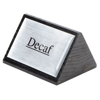 American Metalcraft SIGND4 3 inch x 2 1/2 inch Black Wood Decaf Sign