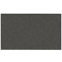 Lavex Janitorial 3' x 5' Slate Washable Nylon Rubber-Backed Indoor Entrance Mat