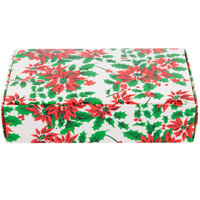 7 1/4 inch x 4 5/8 inch x 1 3/4 inch 1-Piece 1 1/2 lb. Poinsettia Candy Box - 250/Case