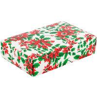7 1/4 inch x 4 5/8 inch x 1 3/4 inch 1-Piece 1 1/2 lb. Poinsettia / Holiday Candy Box   - 250/Case