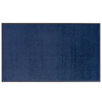 Lavex Janitorial 3' x 4' Blue Washable Nylon Rubber-Backed Indoor Entrance Mat