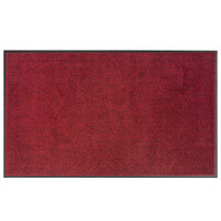 Lavex Janitorial 3' x 4' Crimson Washable Nylon Rubber-Backed Indoor Entrance Mat