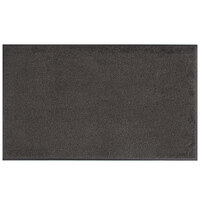 Lavex Janitorial 3' x 5' Gray Washable Nylon Rubber-Backed Indoor Entrance Mat