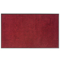 Lavex Janitorial 2' x 3' Crimson Washable Nylon Rubber-Backed Indoor Entrance Mat