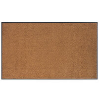 Lavex Janitorial 3' x 5' Brown Washable Nylon Rubber-Backed Indoor Entrance Mat