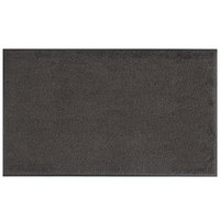 Lavex Janitorial 2' x 3' Gray Washable Nylon Rubber-Backed Indoor Entrance Mat