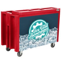 IRP Red Arctic 3501538 Mobile 288 Qt. Cooler with Casters