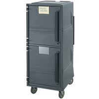 Cambro CMBPSP615 Charcoal Gray Combo Cart Plus with Security Package and Standard Casters