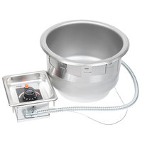 APW Wyott SM-50-11 UL 11 Qt. Round Drop In Soup Well with UL Electrical Kit - 120V