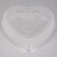 Durable Packaging P9701V Clear Dome Lid for Heart Shaped Foil Bake Pan - 100/Case