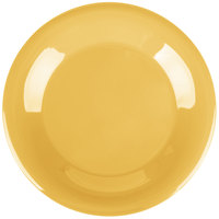 Carlisle 4301222 Durus 9 inch Honey Yellow Wide Rim Melamine Plate - 24/Case