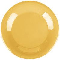 Carlisle 4301222 Durus 9 inch Honey Yellow Wide Rim Melamine Plate - 24/Case