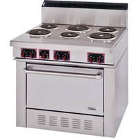 Garland S686 Sentry Series 6 Open Burner Electric Restaurant Range with Standard Oven - 240V, 3 Phase, 15 kW